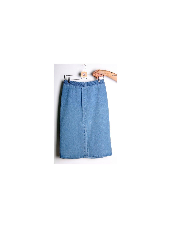 modrá džínová sukně