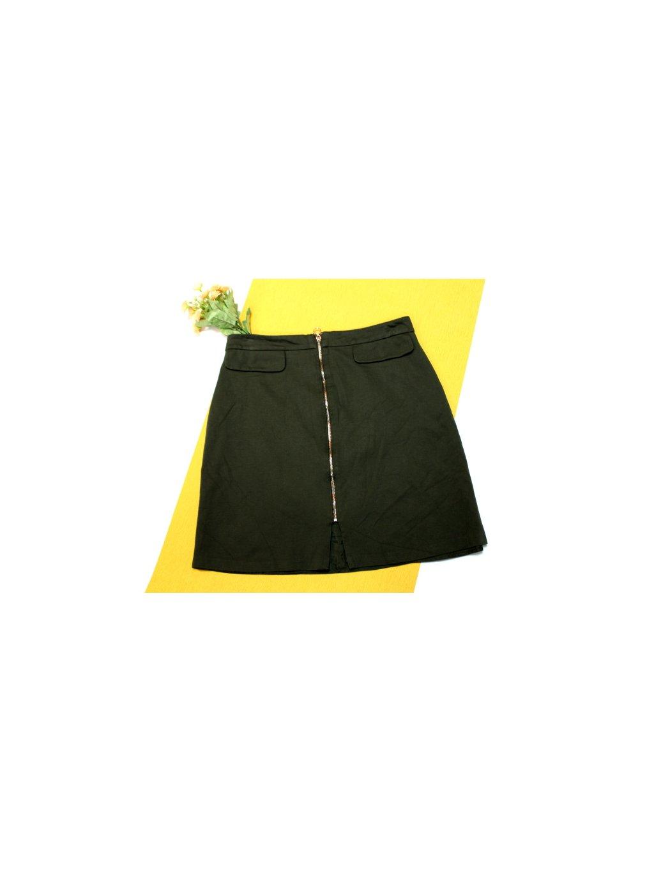 zelená sukně na zip