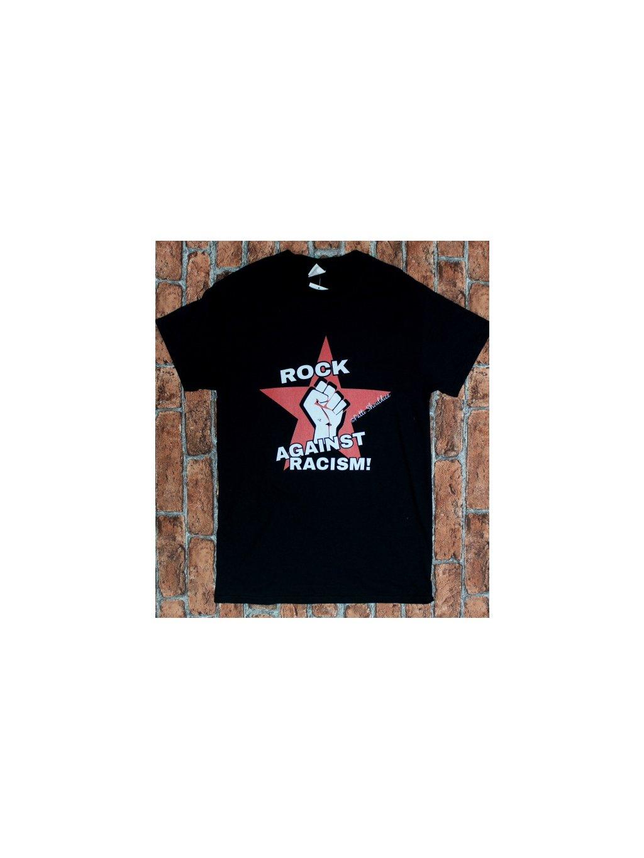 """černé tričko """"rock against racism!"""""""