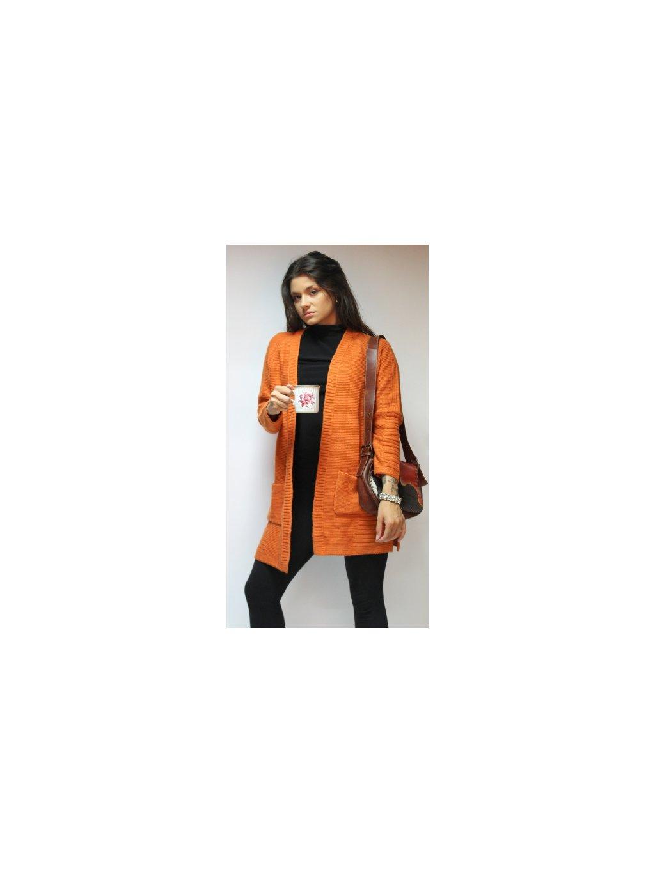 oranžový cardigan