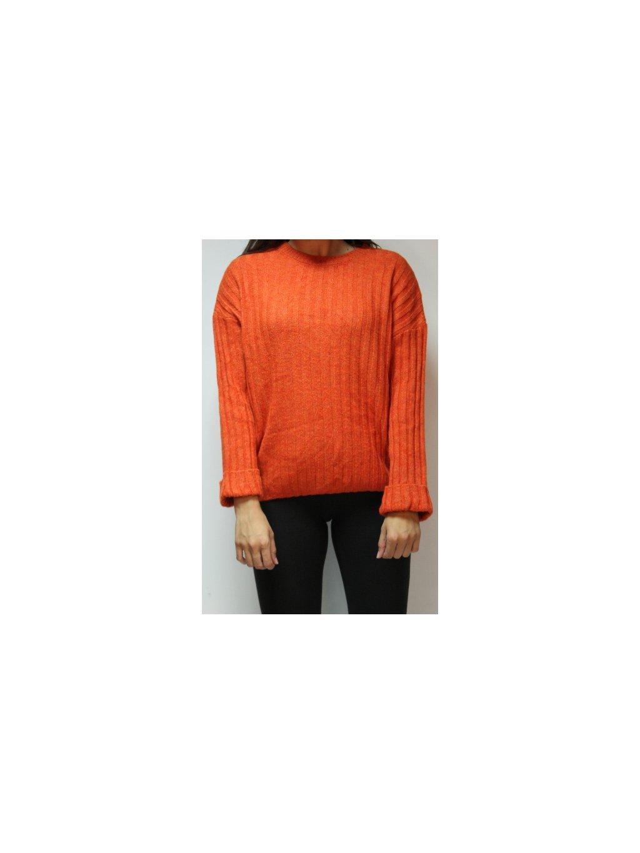 oranžový svetr