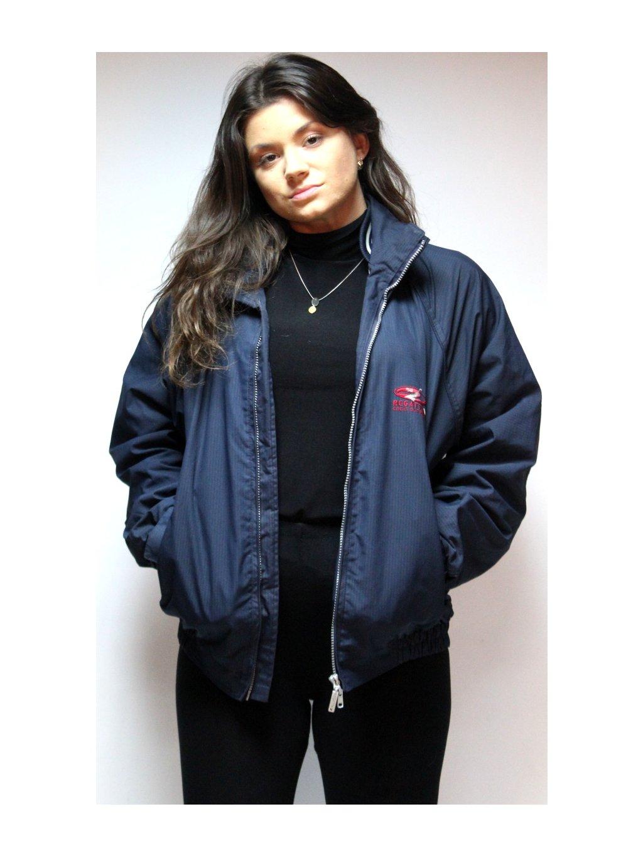 tmavě modrá vintage bunda