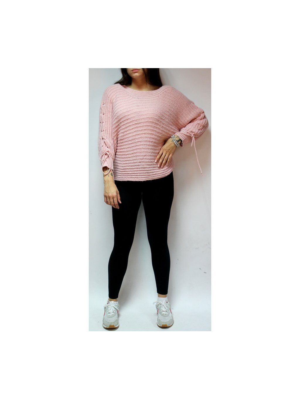 pudrově růžový svetřík