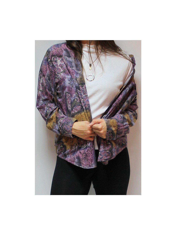 fialová vintage košile