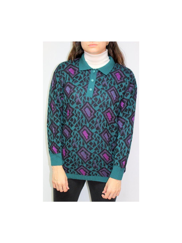 vzorovaný vintage svetr