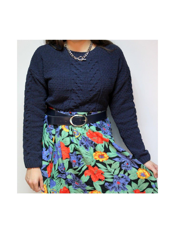 květinová vintage sukně s kapsami