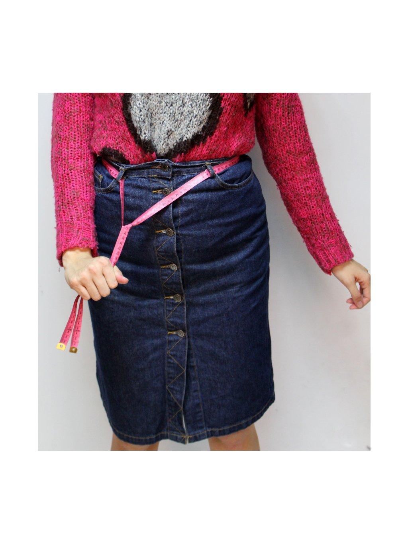denim sukně na knoflíky