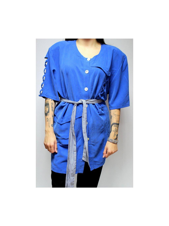 modrá vintage tunika