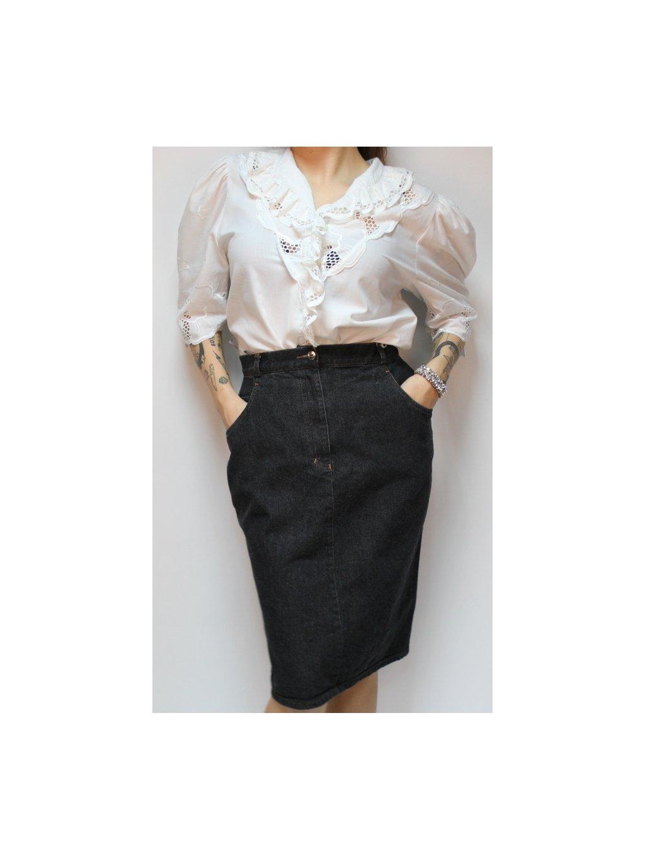 riflová vintage sukně