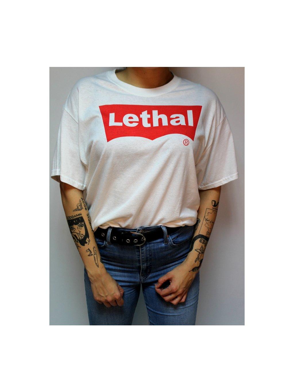 bílé tričko lethal