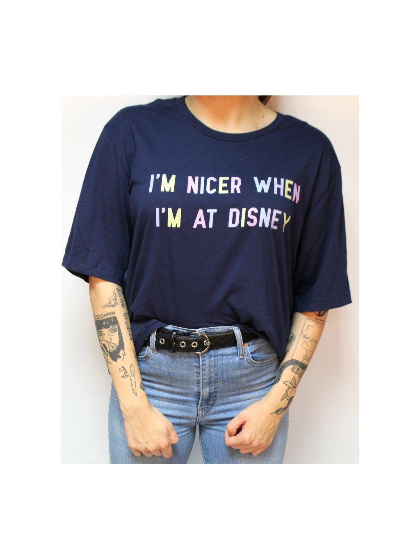 modré tričko disney