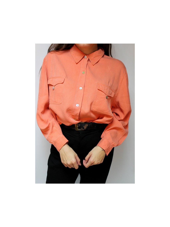 oranžová vintage košile