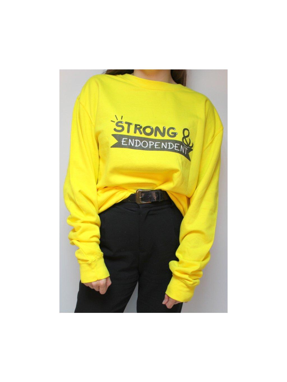 žlutá mikina Strong