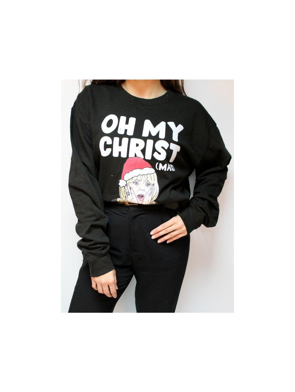 černá mikina Oh my Christ (mas)