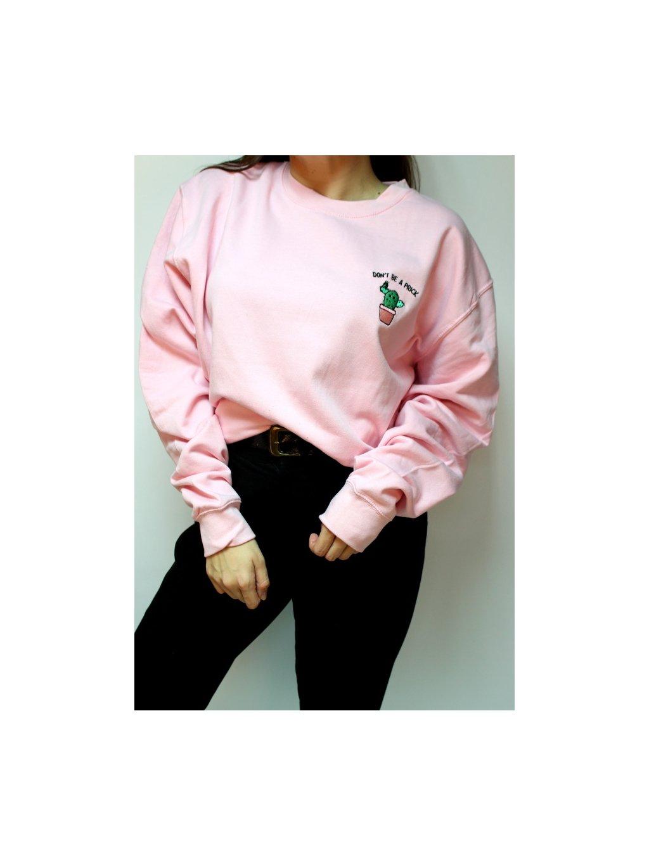růžová mikina kaktus
