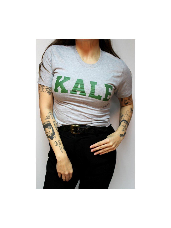 šedé tričko Kale