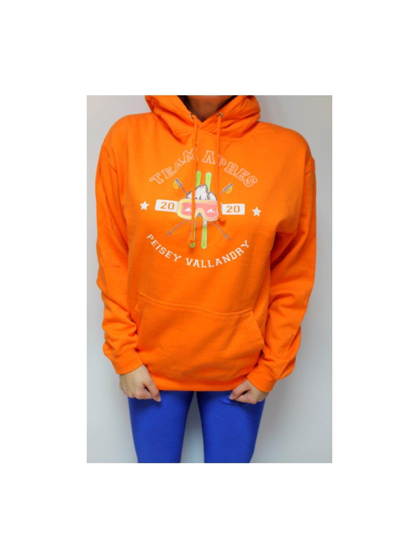 oranžová lyžařská mikina