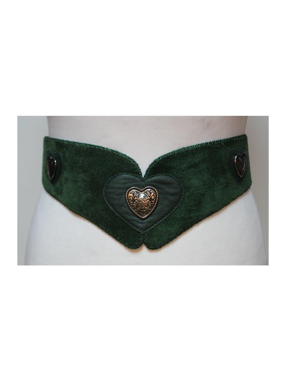 zelený pásek se sponami