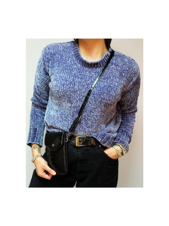 modrý hebký svetr