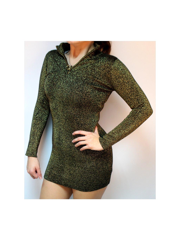 třpytivé topshop svetro šaty
