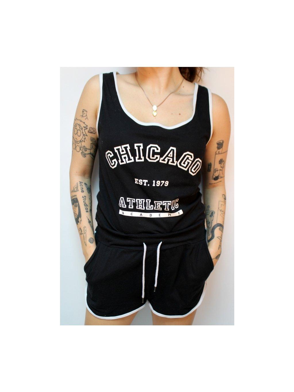 černo bílá Chicago Athletic overal