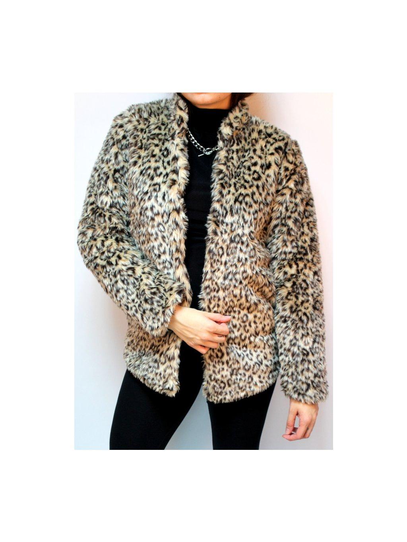 leopardí umělý kožich