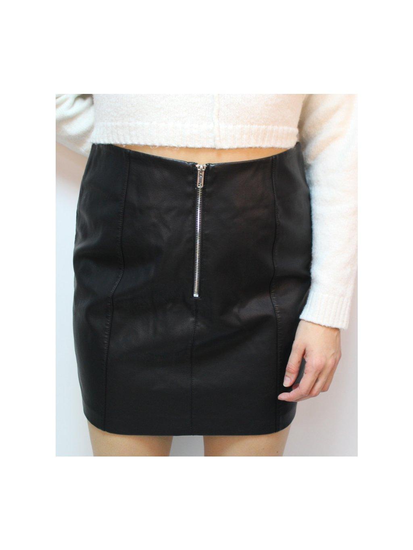koženková černá sukně