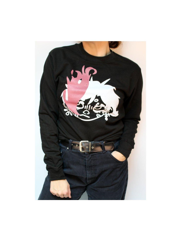 černá hipster mikina
