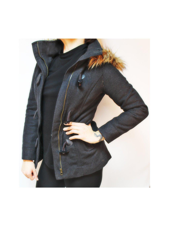 šedý basic kabát