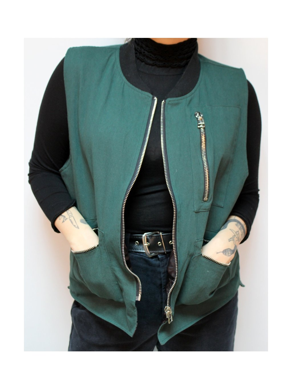hipster tyrkysová vesta