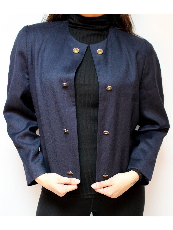 modré vintage sáčko