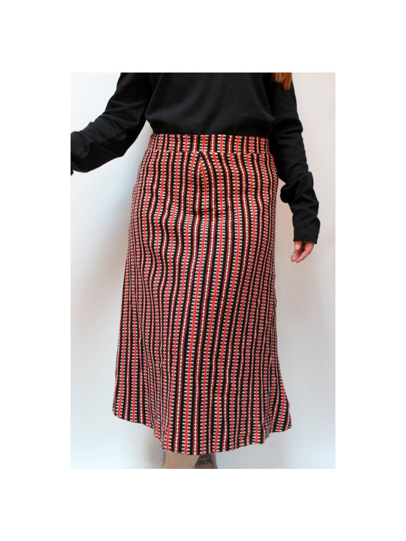 vintage midi sukně