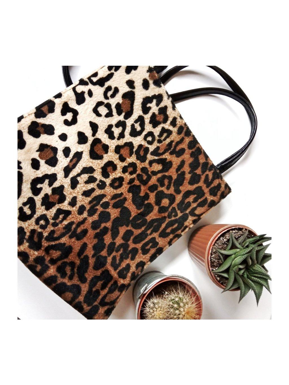 leopardí retro taška přes rameno