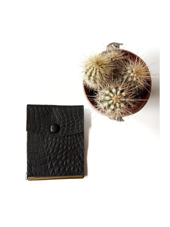 kožená kapsičková minipeněženka přesně do kapsy od džín