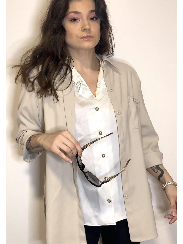 krémové vintage sako