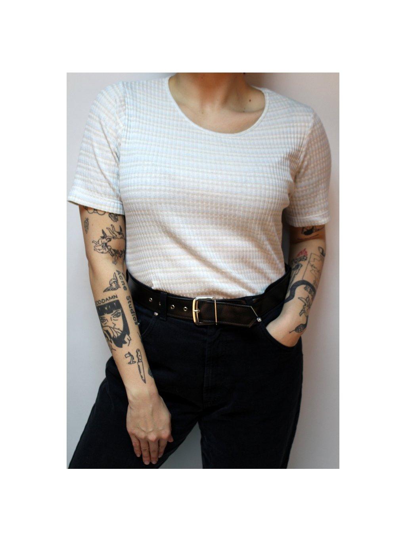 žebrované pruhované vintage tričko