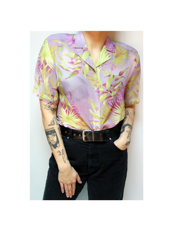 vintage fialová košile