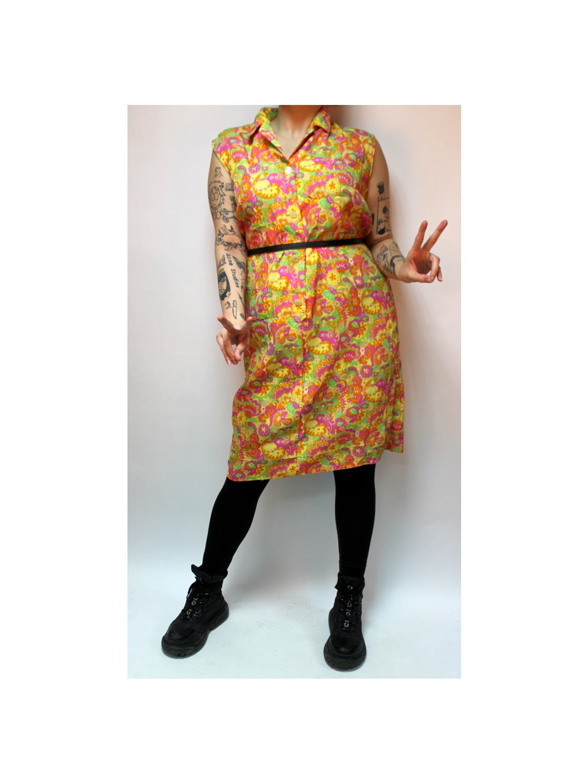 žluté retro šaty