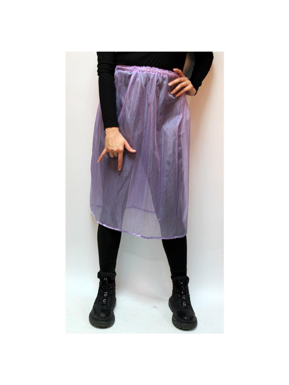 tylová fialová sukně