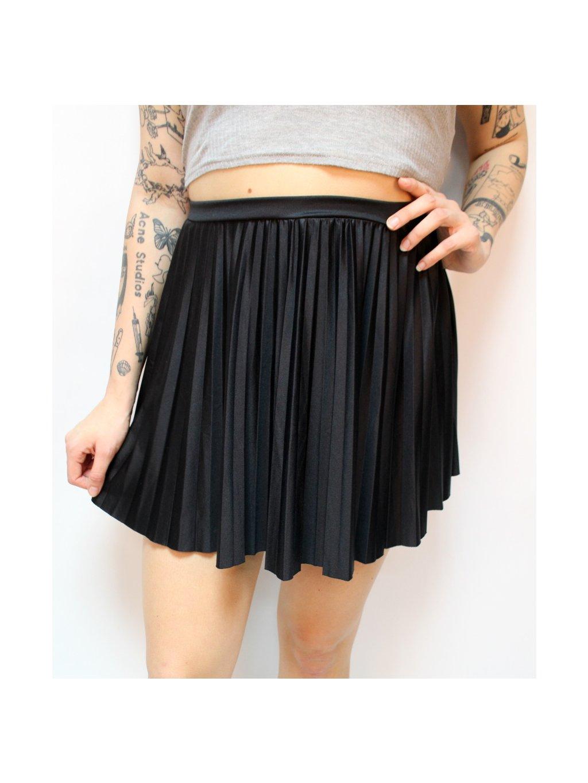 plisovaná skater sukně na gumu