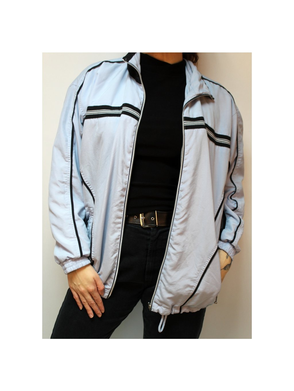 modrá hipster bunda