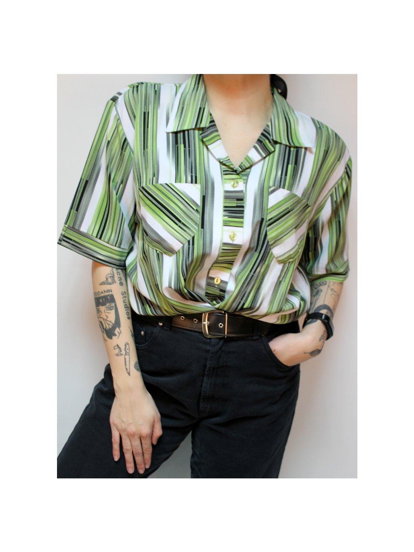 pruhovaná vintage košile