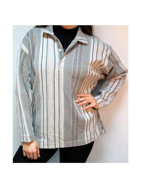 pruhovaná vintage teplá košile