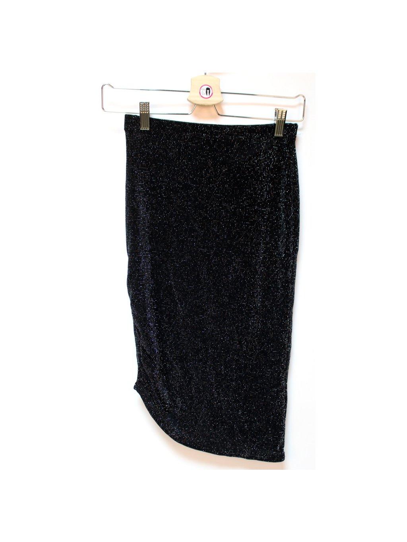 černá sukně stříbrnou nitkou vyšívaná