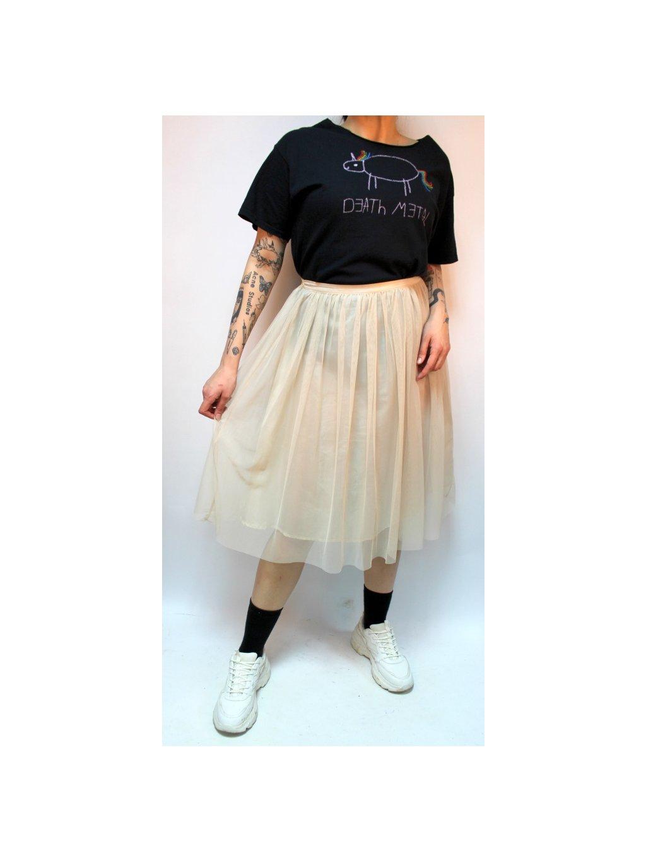 krémová sukně