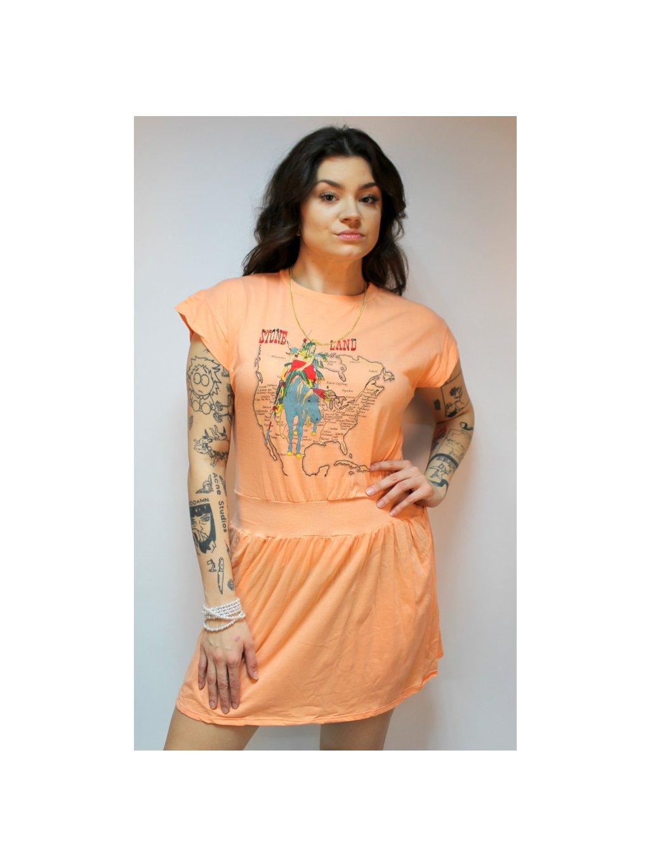 oranžové vintage šaty stoneland