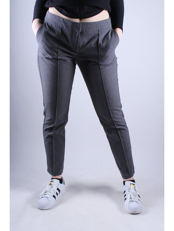 šedé elegantní kalhoty
