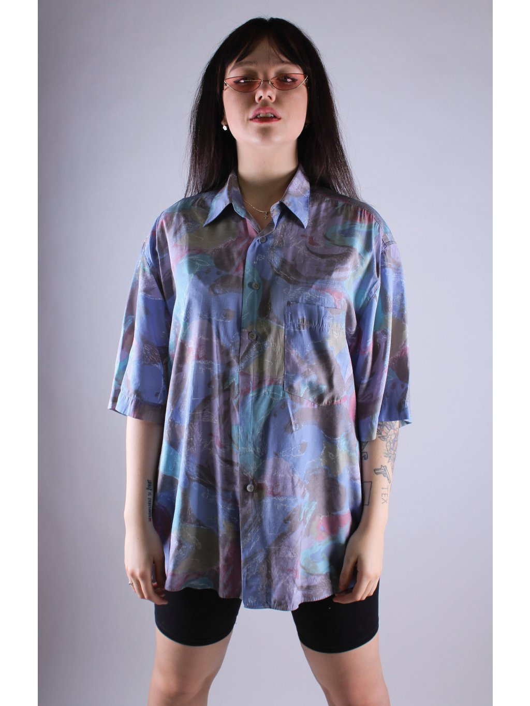 vintage modrá košile