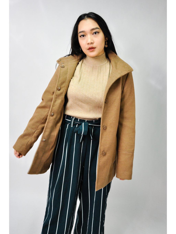 hnědý jarní kabátek