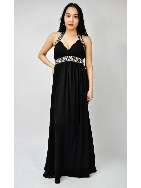 krásné černé společenské šaty